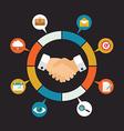 Customer Relationship Management - vector image