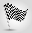 black and white checkered finishing racing flag vector image vector image