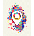 Gps map icon colorful vibrant shape background vector image