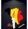 Pray for Brussels Map Of Belgium Flag Of Belgium vector image