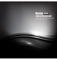 Abstract background black and dark grey curve and vector image