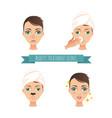 beauty treatment acne treatment vector image