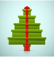 Christmas Tree of Gifts vector image