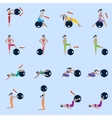 Fitness ball icons set vector image