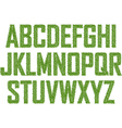 Green alphabet made from leaves vector image