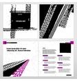 Grunge Tire Brochure vector image