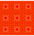 Red and gold chinese pattern vector image