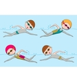 Seamless pattern with swimmers vector image