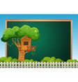 Board template with treehouse vector image vector image