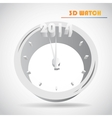 New Years clock vector image vector image