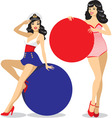 pinup girls vector image