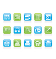 library and books icons vector image vector image