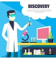 Scientist And Laboratory Discovery vector image