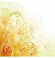 Artistic flowers background vector image