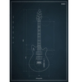 electric guitar blueprint vector image