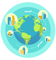 Global business vector image