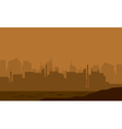 Silhouette of the city in the desert vector image