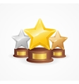 Star Award Set vector image