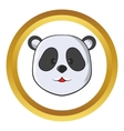 Head of panda bear icon vector image
