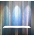Isolated Empty shelf for exhibit on wood  EPS10 vector image vector image