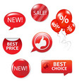 set of red sale elements vector image vector image