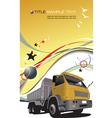 truck background vector image vector image