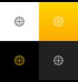 abstract circle with dots logo linear dots logo vector image