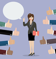 Good speech from business woman vector image