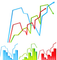 graphs vector image