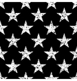 Grunge stars seamless pattern retro vector image