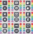 Media skip RSS Hand Stop Window Marker Apps vector image
