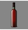 Transparent blank realistic bottle for red wine vector image