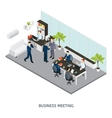 Cabinet Office Isometric vector image vector image