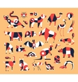 Animals - flat design icons set vector image