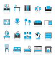 furniture and home equipment icons vector image