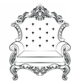 Baroque luxury style armchair furniture vector image