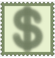 US Dollar stamp vector image vector image