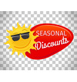 summer sale label seasonal discount vector image