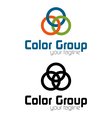 Color group logo vector image