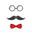 Hipster symbolic of a man face glasses mustache vector image vector image