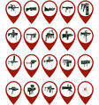 Badges with grenade launchers vector image vector image