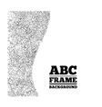 Frame created from the letters of different sizes vector image vector image