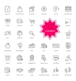 Set of E-commerce Thin lines icons vector image