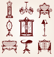 Set of furniture icons vector image vector image