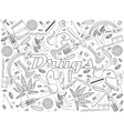 Drugs coloring book vector image