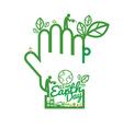 Green Hand Saving Energy Concept vector image vector image