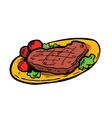 beef steak vector image