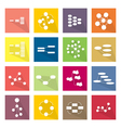 Collection of 16 Flow Chart Diagram Icons vector image