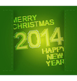 Green merry christmas and new year vector image