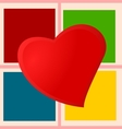 Heart on checkered plaid vector image